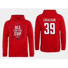 Men NHL Washington Capitals 39 Chiasson Red All for the Cup Hoodie
