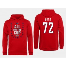 Men NHL Washington Capitals 72 Boyd Red All for the Cup Hoodie