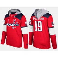 Men NHL Washington capitals 19 nicklas backstrom red hoodie
