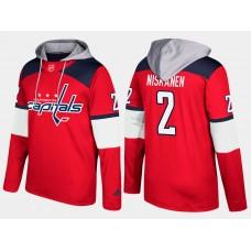 Men NHL Washington capitals 2 matt niskanen red hoodie