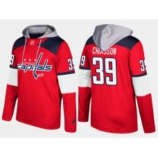 Men NHL Washington capitals 39 alex chiasson red hoodie
