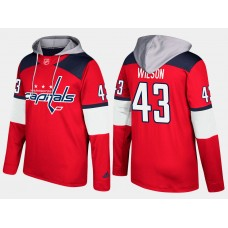 Men NHL Washington capitals 43 tom wilson red hoodie
