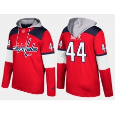 Men NHL Washington capitals 44 brooks orpik red hoodie