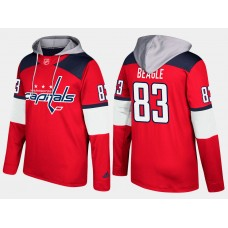 Men NHL Washington capitals 83 jay beagle red hoodie