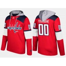 Men NHL Washington capitals customized red hoodie