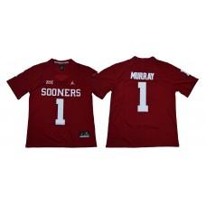 Men Oklahoma Sooners 1 Murray Red NCAA Jerseys