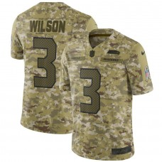 Men Seattle Seahawks 3 Wilson Nike Camo Salute to Service Retired Player Limited NFL Jerseys