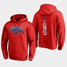 NHL Men Washington capitals 1 pheonix copley 2018 eastern conference champions interference red hoodie