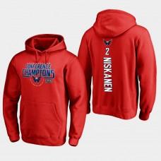 NHL Men Washington capitals 2 matt niskanen 2018 eastern conference champions interference red hoodie