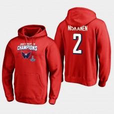NHL Men Washington capitals 2 matt niskanen 2018 stanley cup champions pullover hoodie