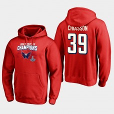 NHL Men Washington capitals 39 alex chiasson 2018 stanley cup champions pullover hoodie