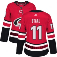 Adidas Carolina Hurricanes 11 Jordan Staal Red Home Authentic Women Stitched NHL Jersey