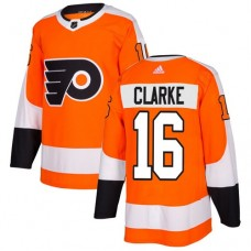 Adidas Men Philadelphia Flyers 16 Bobby Clarke Orange Home Authentic Stitched NHL Jersey