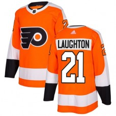 Adidas Men Philadelphia Flyers 21 Scott Laughton Orange Home Authentic Stitched NHL Jersey