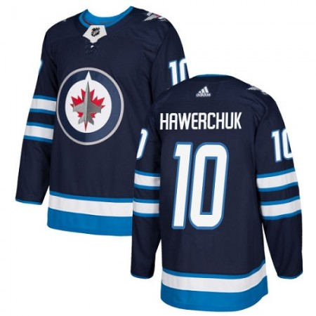 Adidas Men Winnipeg  Jets 10 Dale Hawerchuk Navy Blue Home Authentic Stitched NHL Jersey