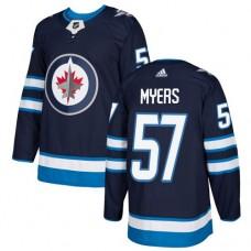 Adidas Men Winnipeg  Jets 57 Tyler Myers Navy Blue Home Authentic Stitched NHL Jersey