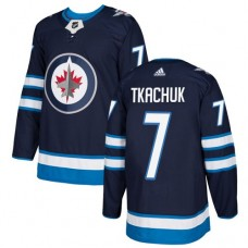 Adidas Men Winnipeg  Jets 7 Keith Tkachuk Navy Blue Home Authentic Stitched NHL Jersey