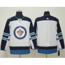 Adidas Men Winnipeg  Jets Blank White Road Authentic Stitched NHL Jersey