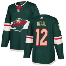 Adidas Minnesota Wild 12 Eric Staal Green Home Authentic Stitched Youth NHL Jersey