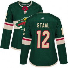 Adidas Minnesota Wild 12 Eric Staal Green Home Authentic Women Stitched NHL Jersey