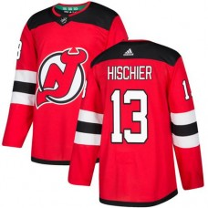 Adidas New Jersey Devils 13 Nico Hischier Red Home Authentic Stitched Youth NHL Jersey