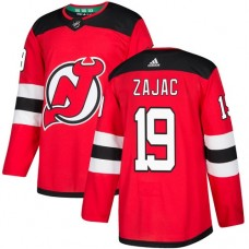 Adidas New Jersey Devils 19 Travis Zajac Red Home Authentic Stitched Youth NHL Jersey