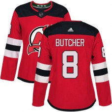 Adidas New Jersey Devils 8 Will Butcher Red Home Authentic Women Stitched NHL Jersey