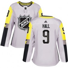 Adidas New Jersey Devils 9 Taylor Hall Gray 2018 All-Star Metro Division Authentic Women Stitched NHL Jersey
