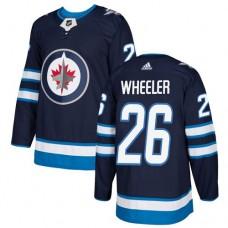 Adidas Winnipeg Jets 26 Blake Wheeler Navy Blue Home Authentic Stitched Youth NHL Jersey