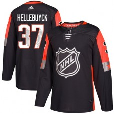 Adidas Winnipeg Jets 37 Connor Hellebuyck Black 2018 All-Star Central Division Authentic Stitched Youth NHL Jersey