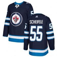 Adidas Winnipeg Jets 55 Mark Scheifele Navy Blue Home Authentic Stitched Youth NHL Jersey