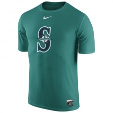 MLB Men Seattle Mariners Nike Authentic Collection Legend Logo 1.5 Performance TShirt  Aqua