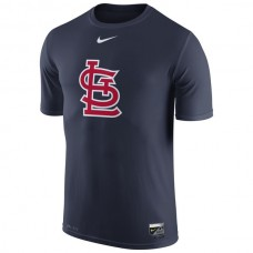 MLB Men St. Louis Cardinals Nike Authentic Collection Legend Logo 1.5 Performance TShirt  Navy
