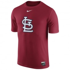 MLB Men St. Louis Cardinals Nike Authentic Collection Legend Logo 1.5 Performance TShirt  Red
