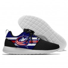 Men  NHL Columbus Blue Jackets Roshe style Lightweight Running shoes 7