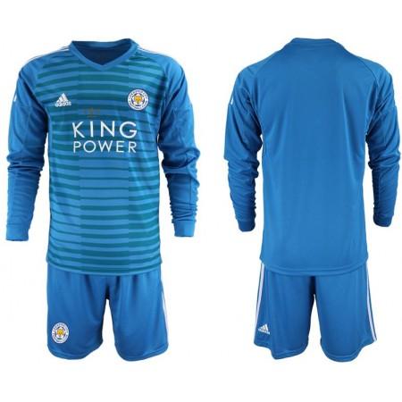 Men 2018-2019 club Leicester City blue goalkeeper Long sleeve Soccer Jerseys