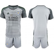 Men 2018-2019 club Leicester City gray goalkeeper soccer jersey