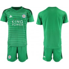Men 2018-2019 club Leicester City green goalkeeper soccer jersey