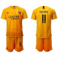 Men 2018-2019 club Rome Second away 11 yellow soccer jersey