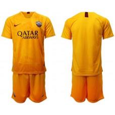 Men 2018-2019 club Rome Second away yellow soccer jersey