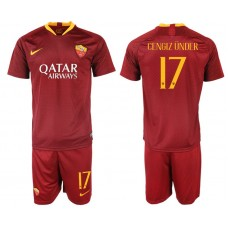 Men 2018-2019 club Rome home 17 red soccer jersey