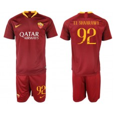 Men 2018-2019 club Rome home 92 red soccer jersey