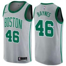 Men Boston Celtics 46 Aron Baynes Gray Nike Swingman City Edition NBA Jersey