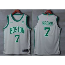 Men Boston Celtics 7 Brown Gray Nike Swingman City Edition NBA Jersey