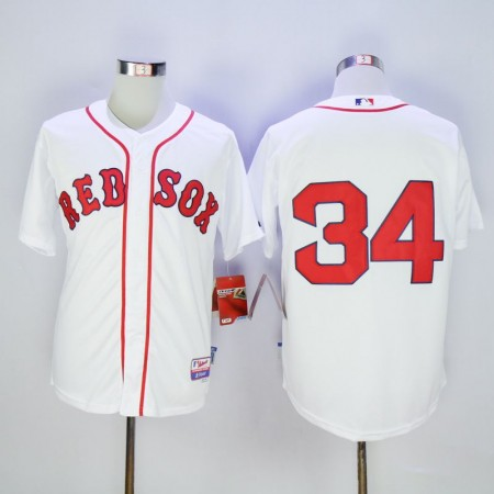 Men Boston Red Sox 34 Ortiz White MLB Jerseys