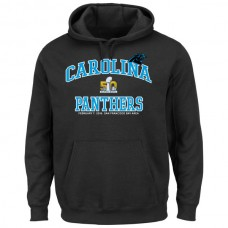 Men Carolina Panthers Majestic Super Bowl 50 Bound Heart and Soul Going to the Game Pullover Hoodie Black