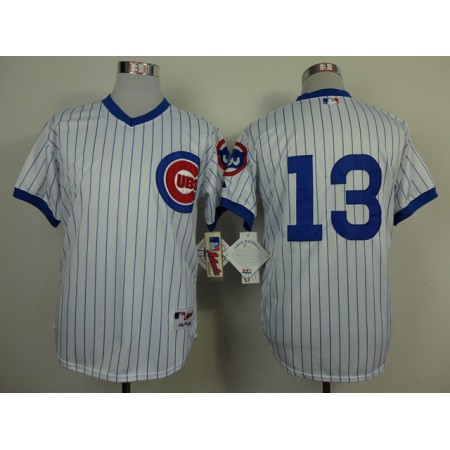 Men Chicago Cubs 13 Castro White Throwback 1988 MLB Jerseys