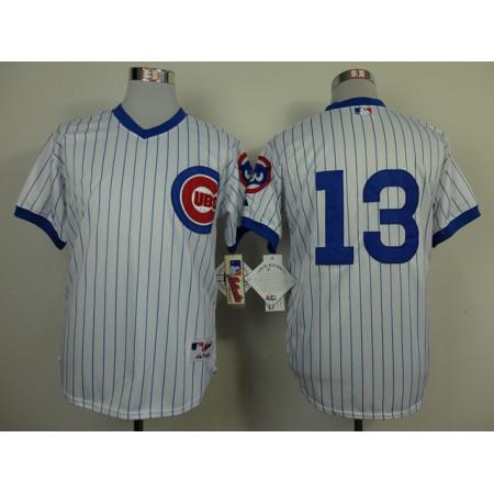 Men Chicago Cubs 13 Castro White Throwback 1988 MLB Jerseys