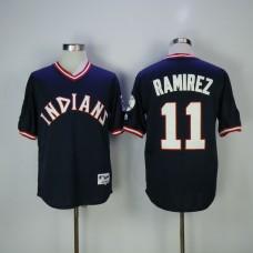 Men Cleveland Indians 11 Ramirez Blue MLB Jerseys