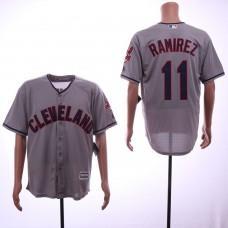 Men Cleveland Indians 11 Ramirez Grey Game MLB Jerseys